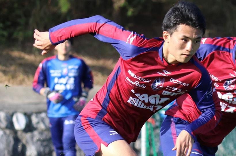 優人さんは大阪体育大学在学中に夢だったJリーガーに!(写真提供:ファジアーノ岡山)